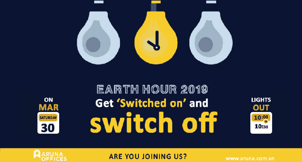 JOIN ARUNA OFFICES' EFFORTS FOR EARTH HOUR 2019